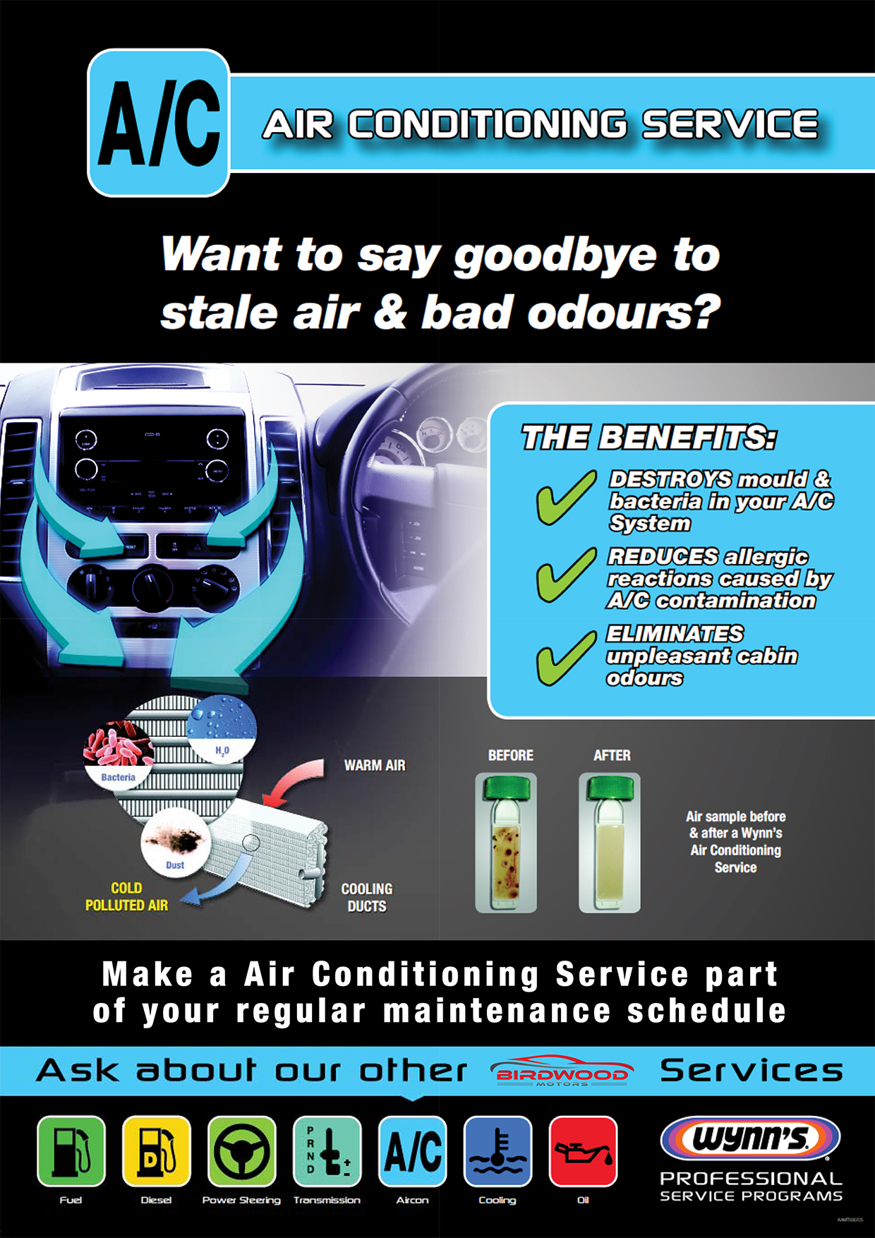 Air Conditioning Service Poster (Birdwood)