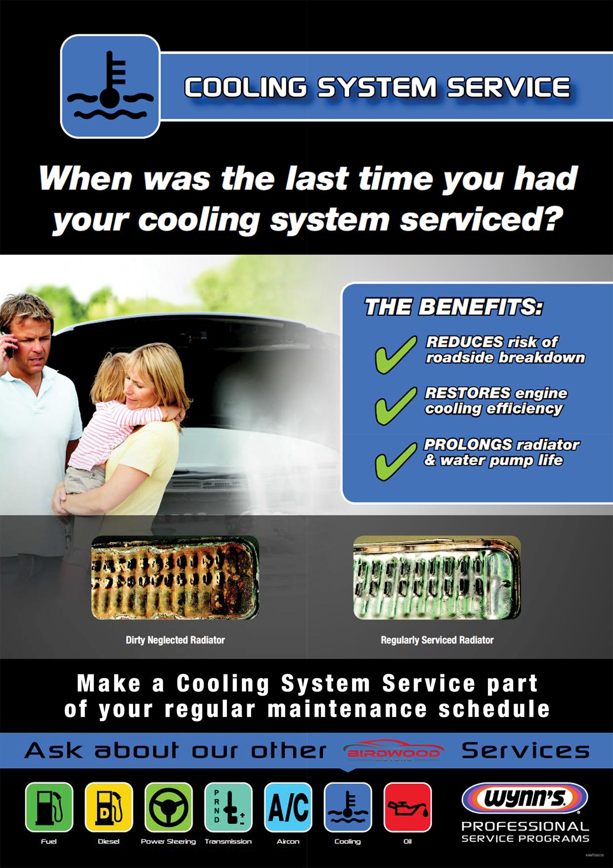 Cooling System Service Poster (Birdwood)