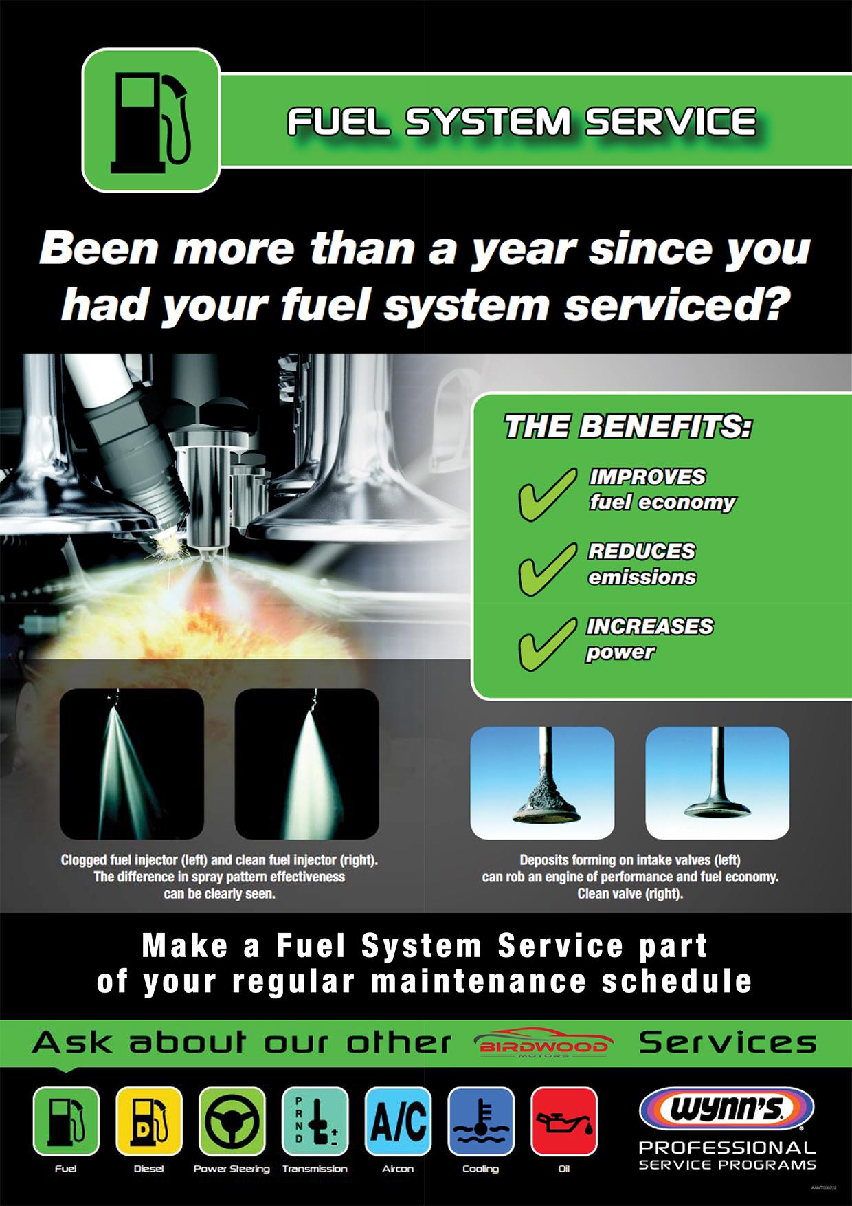 Fuel System Service Poster (Birdwood)
